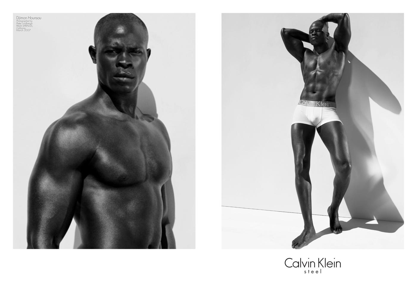 celebrity calvin klein underwear ads djimon hounsou