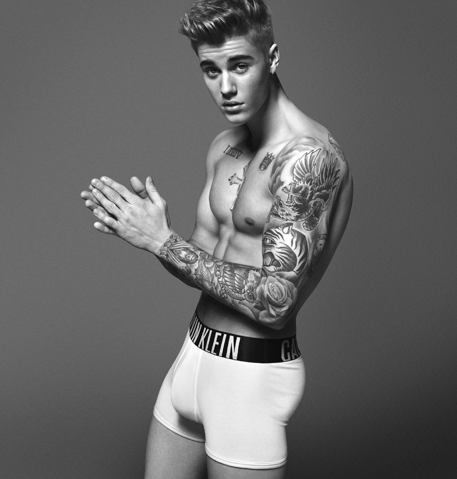 celebrity calvin klein underwear ads justin bieber