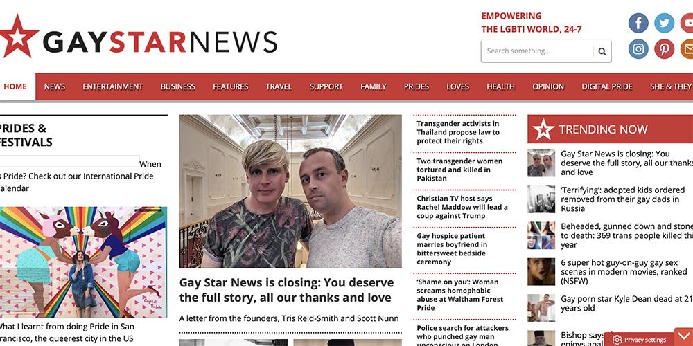 Le média gay anglais Gay Star News ferme ses portes