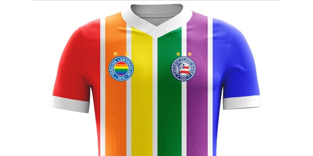 Bahia para todos: ação pretende lançar camisa com cores LGBT em camisa de time