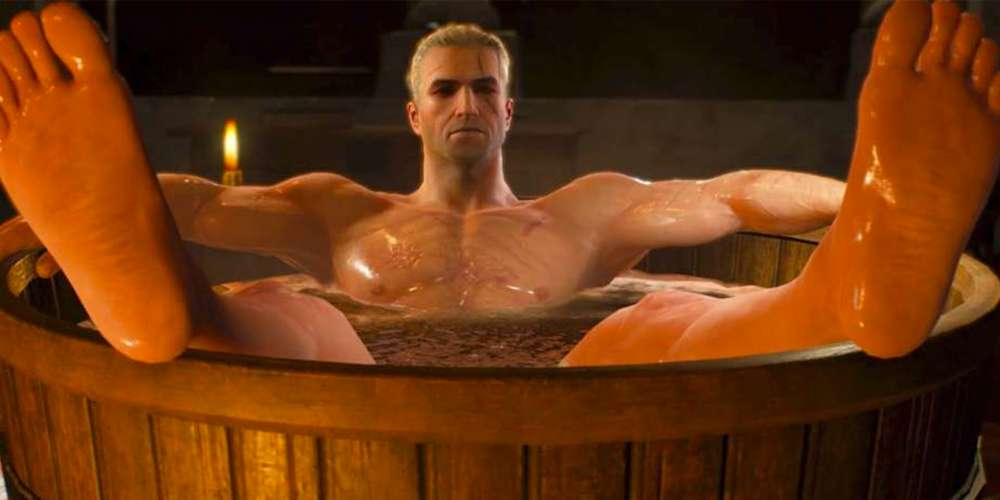 'PC Gamer' Has Been Trolling Homophobes for Years With Sexy 'Witcher' Star Bathtub Geralt
