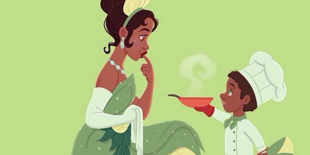 A los jóvenes también les pueden gustar las princesas de Disney, como muestra el trabajo del ilustrador brasileño