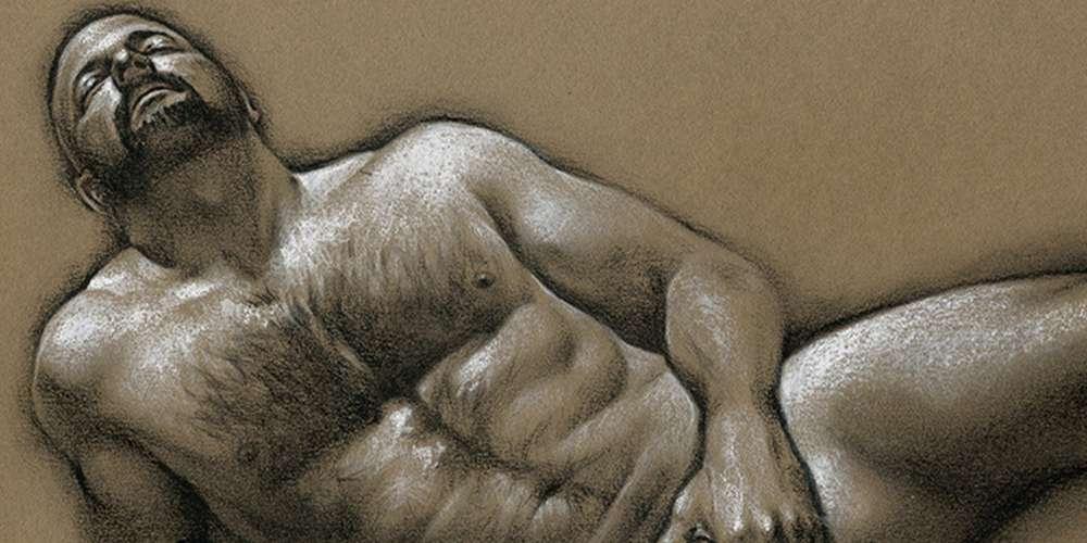 ศิลปะหนุ่มหุ่นหมีของ Chris Lopez กับความงามของร่างกายของผู้ชาย