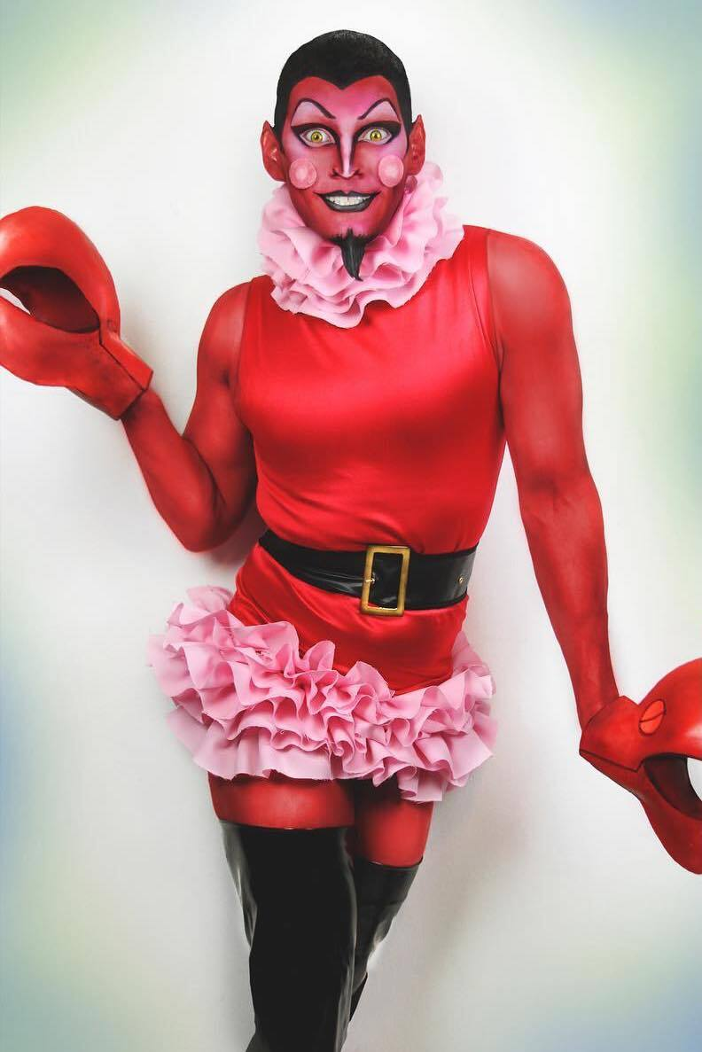 hornet halloween costume contest lobster devil