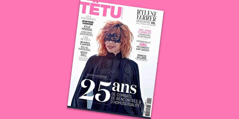 Têtu fête ses 25 ans avec Mylène Farmer en couverture
