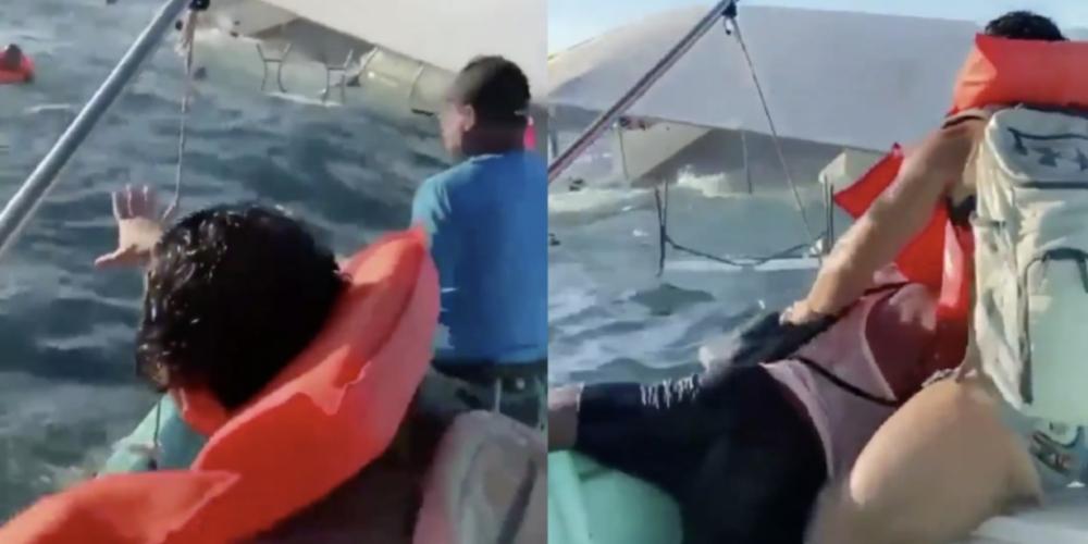 GAYS AO MAR: Barco cheio de yags aglomeradas vira e causa pânico (vídeo)