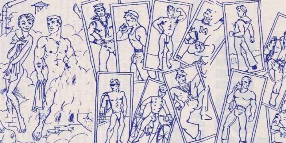 Este libro de coloreo gat de 1964 muestra cruceros, travestis y una orgía en un cuarto de vapor